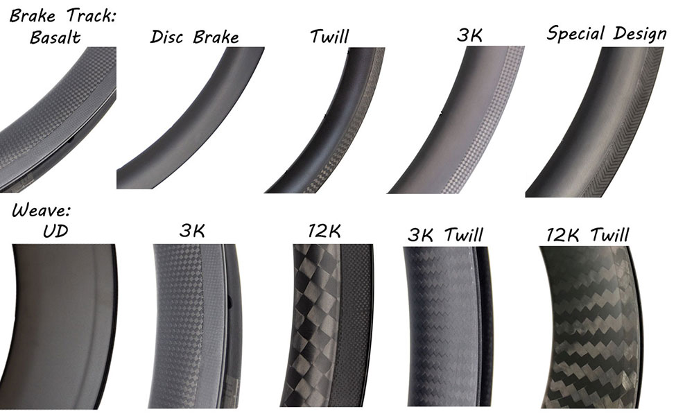 46mm carbon tubeless clincher road rims