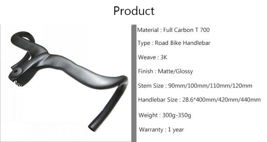 carbon fiber road bike handlebars